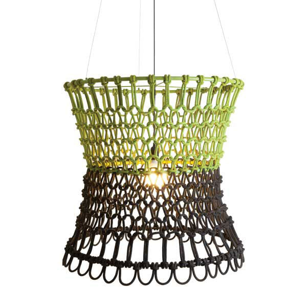 Carousel Hanging Lamp Light Green / Dark Green by Kenneth Cobonpue for Hive - Vertigo Home