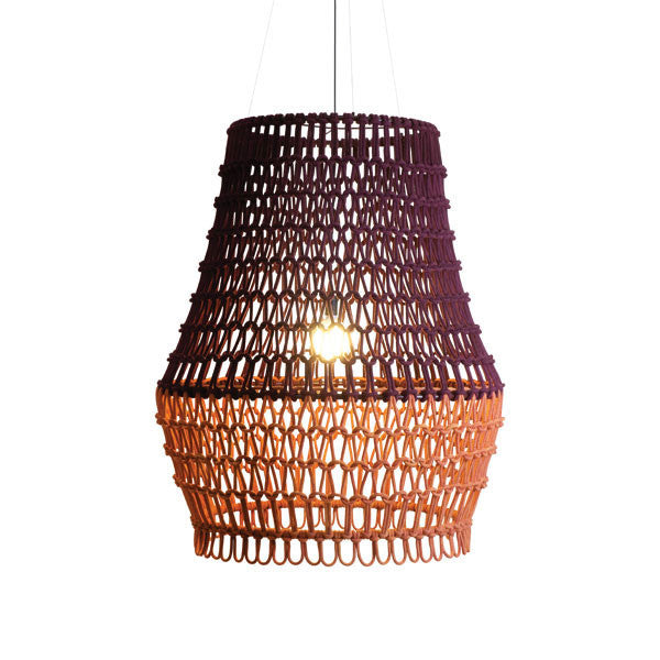 Carousel Hanging Lamp Dark Plum / Orange by Kenneth Cobonpue for Hive - Vertigo Home