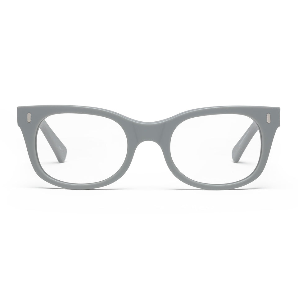 Bixby Matte Putty Grey Reading Glasses by Caddis