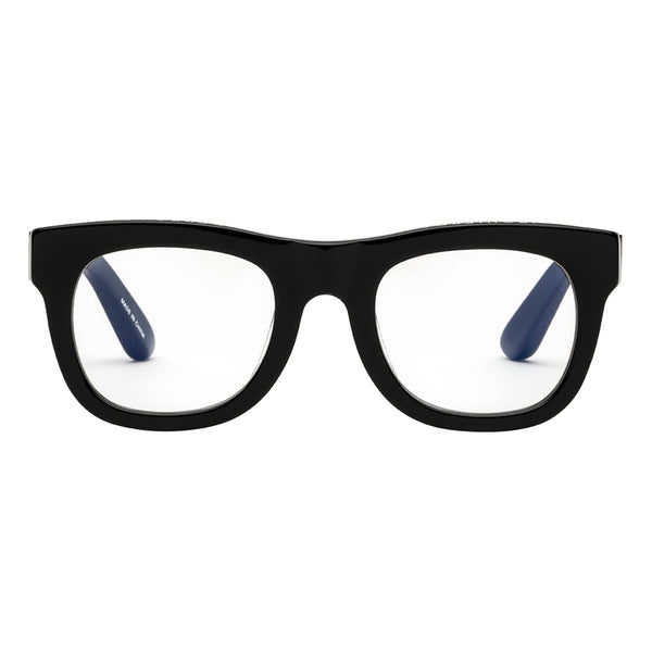 D28 Gloss Black Reading Glasses by Caddis