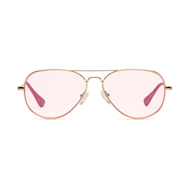 Mabuhay Polished Rose Gold Reading Glasses by Caddis