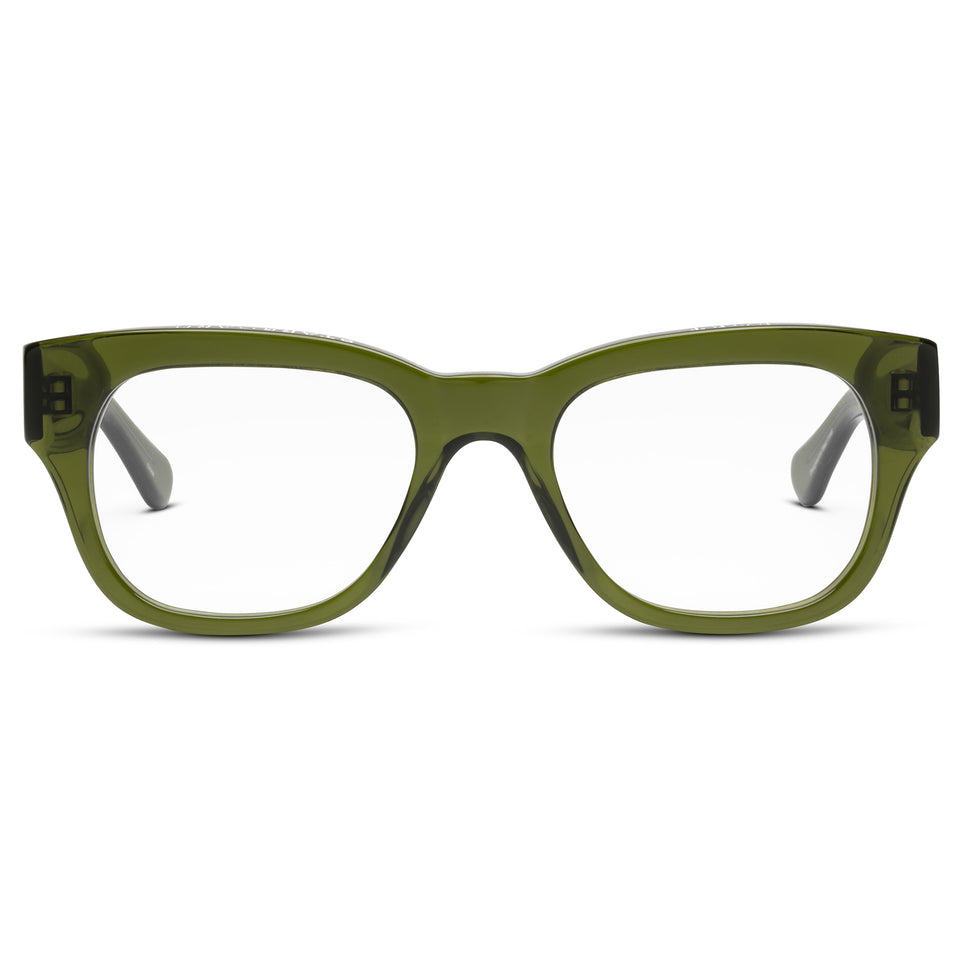 Miklos Heritage Green Reading Glasses by Caddis