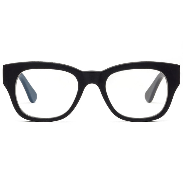 Miklos Matte Black Reading Glasses by Caddis