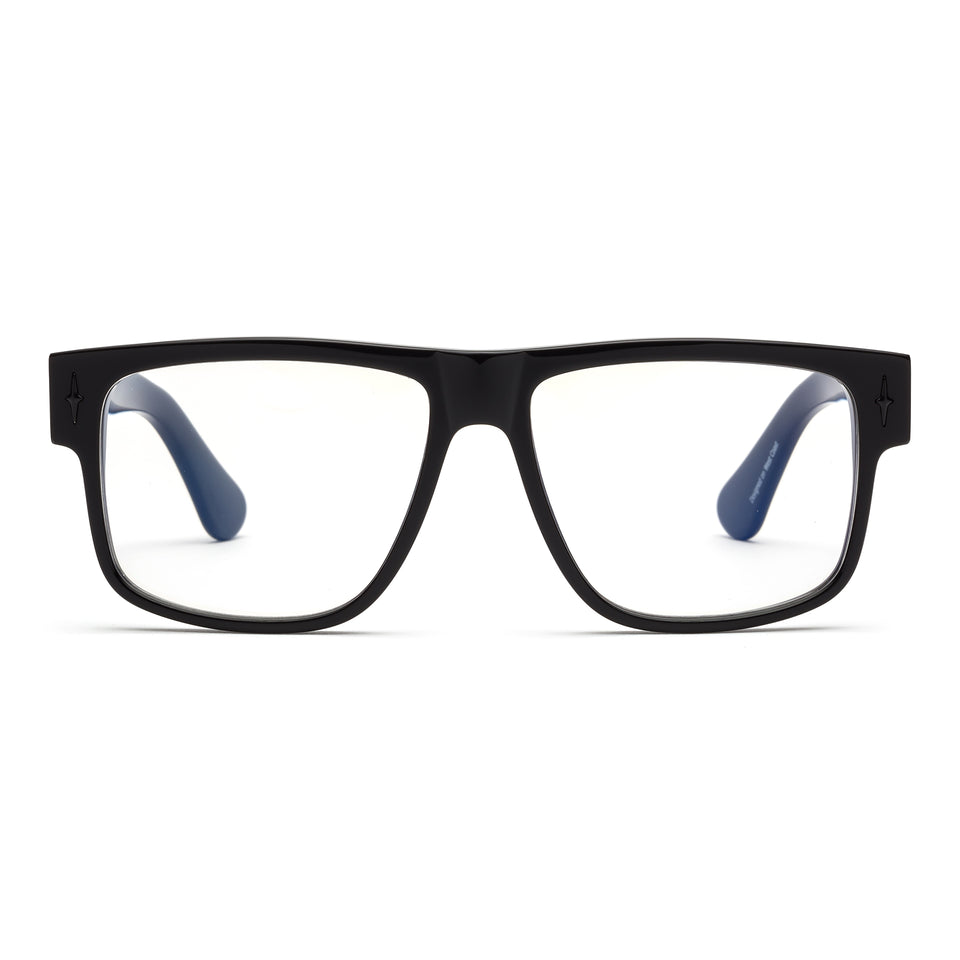 Mister Cartoon Gloss Black Reading Glasses by Caddis - Limited Edition
