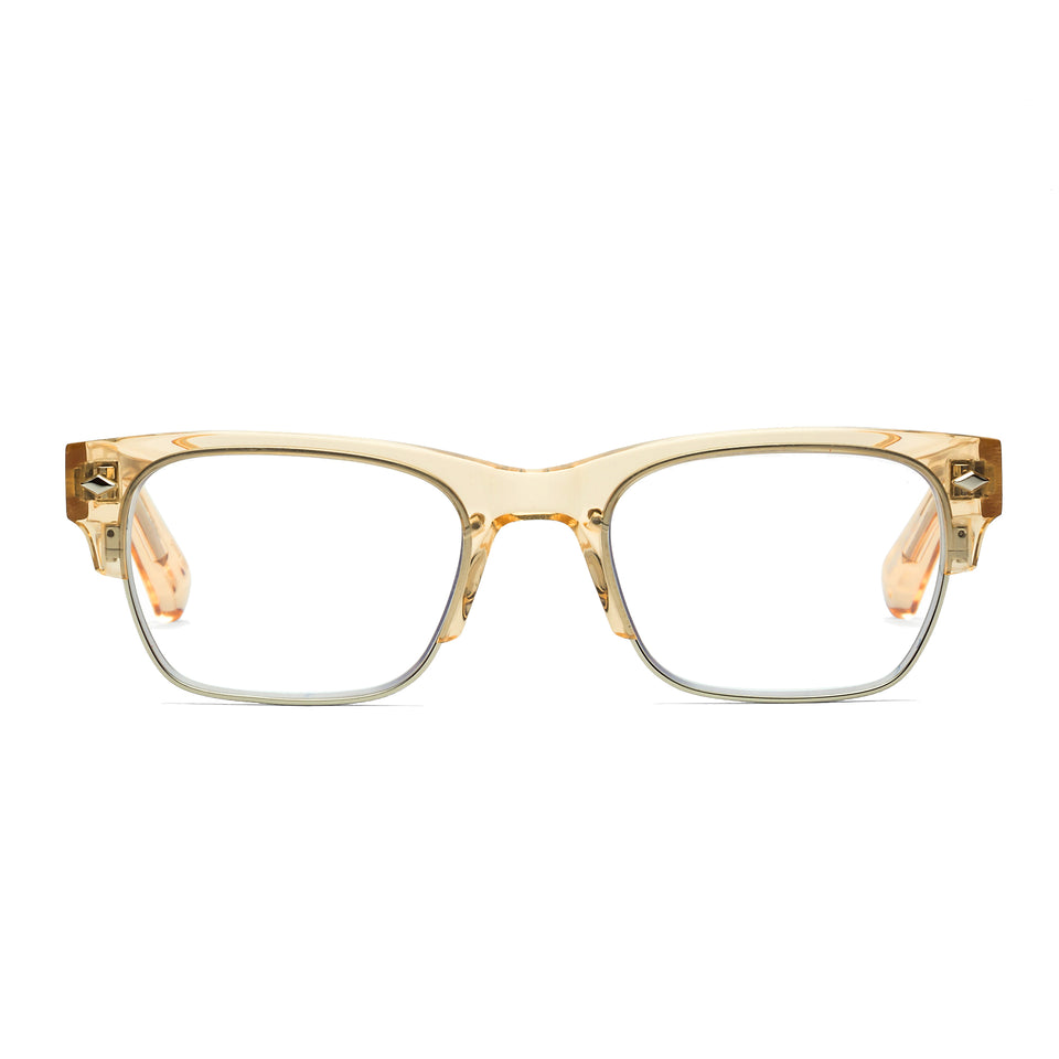 Navin Raw Honey Reading Glasses by Caddis
