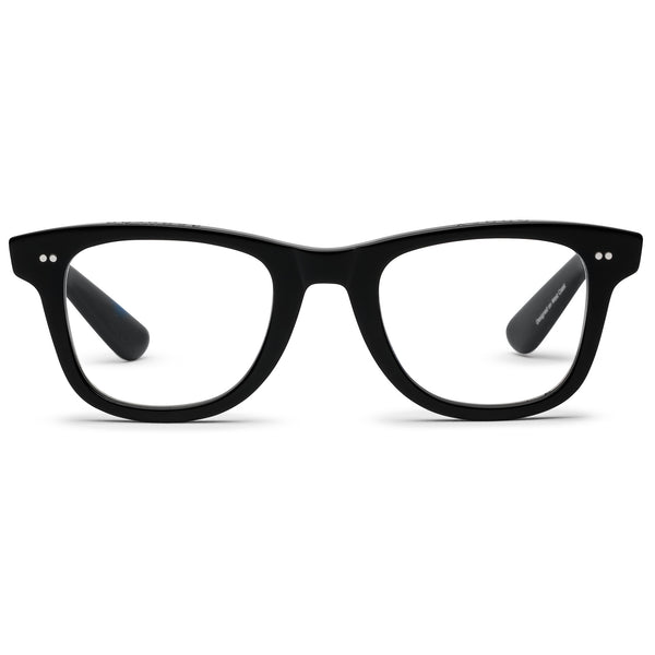Porgy Backstage Gloss Black Reading Glasses by Caddis