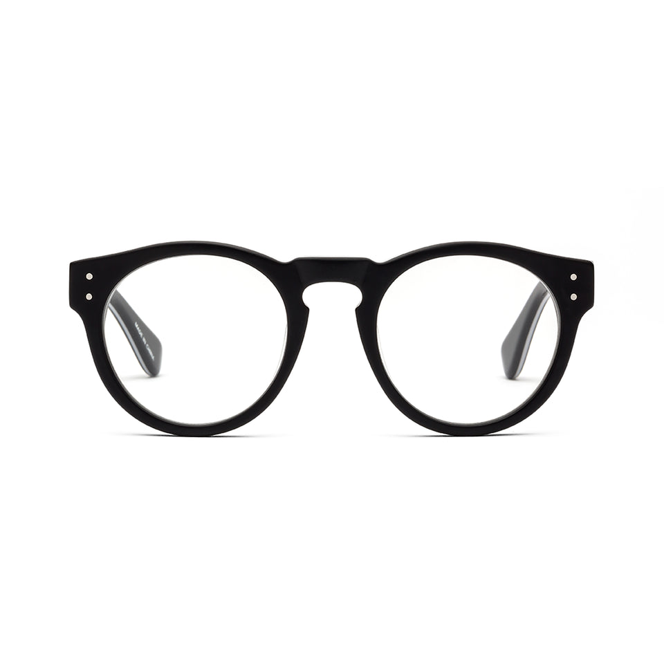Soup Cans Black White Pinstripe Reading Glasses by Caddis