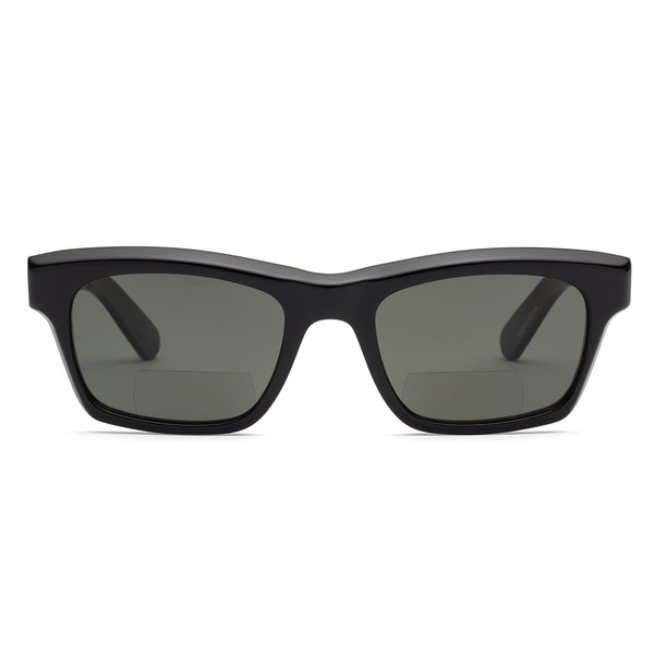 Bess Gloss Black Sun Reading Glasses by Caddis