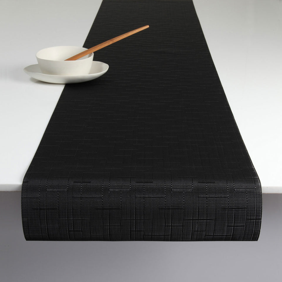 Jet Black Bamboo Placemats & Runner by Chilewich