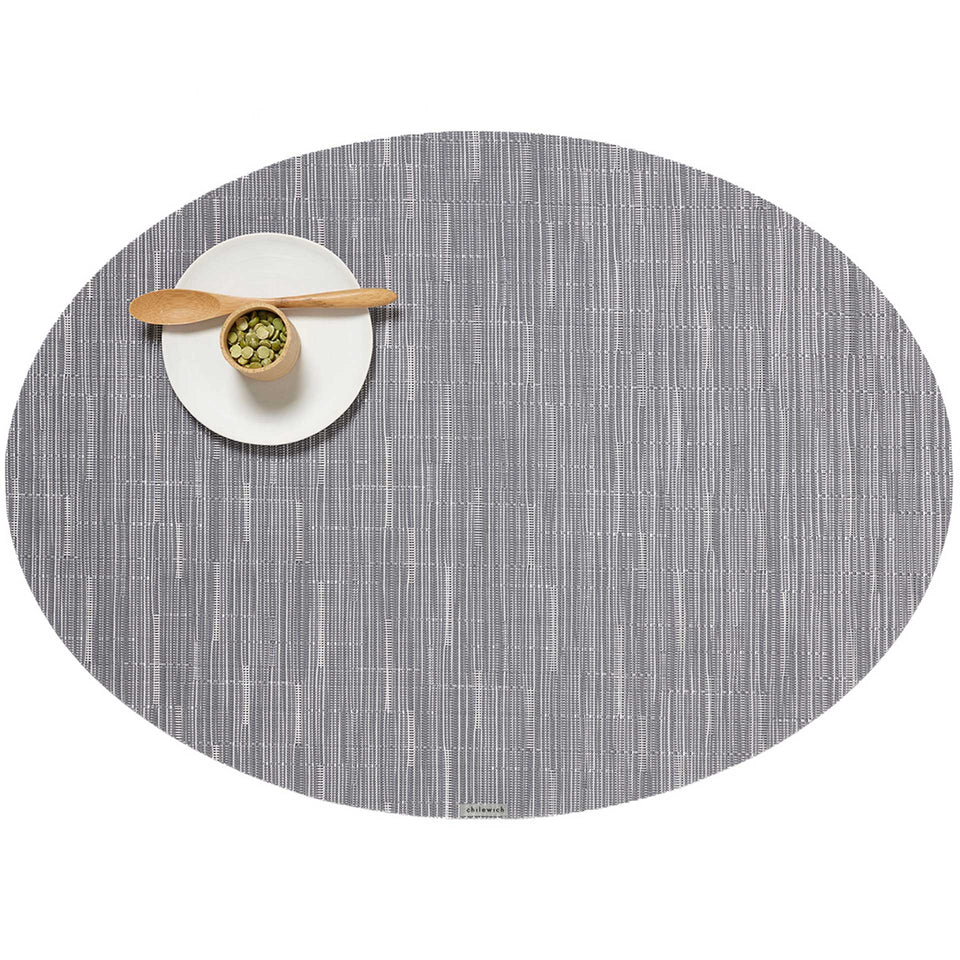 Fog Bamboo Placemats & Runner by Chilewich