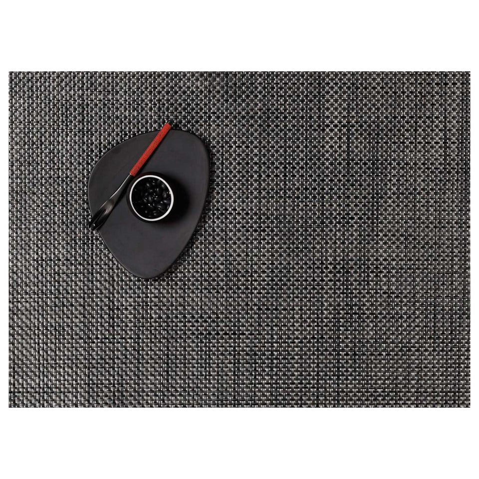 Carbon Basketweave Placemats & Runner by Chilewich