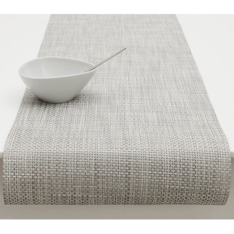 White/Silver Basketweave Placemats & Runner by Chilewich