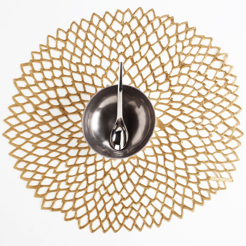 Brass Dahlia Placemat by Chilewich