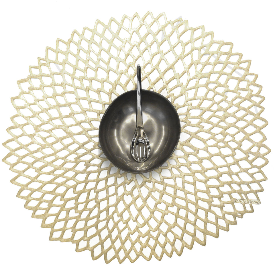 Champagne Dahlia Placemat by Chilewich