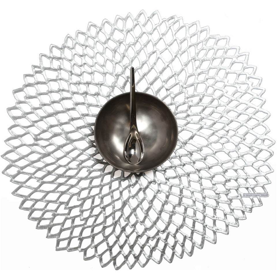Silver Dahlia Placemat by Chilewich