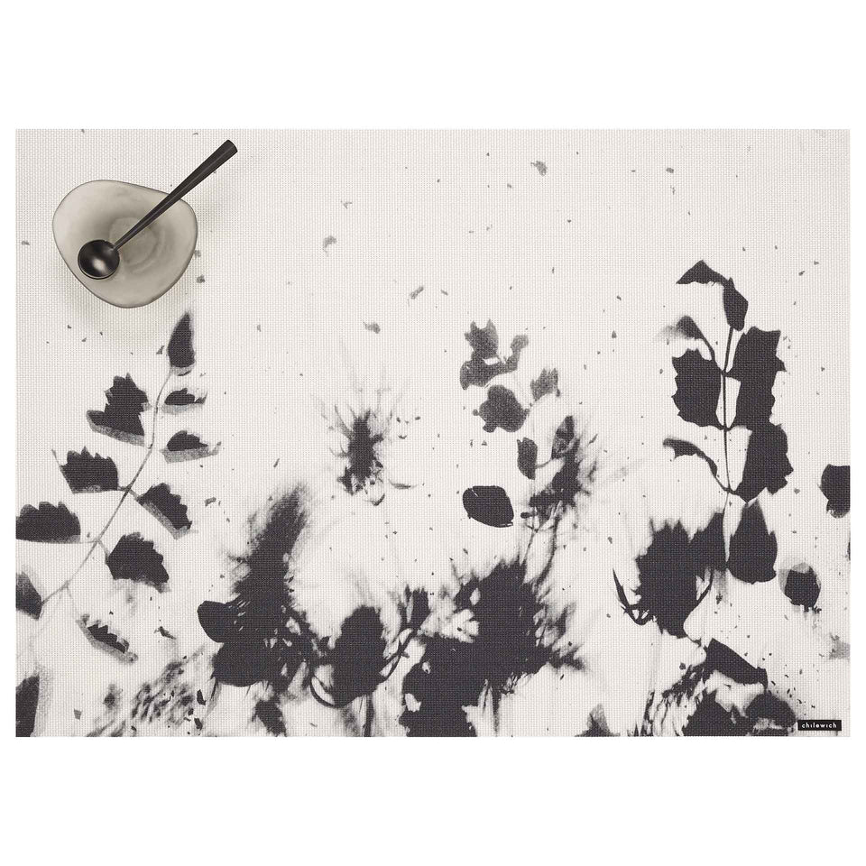 Black Flora Placemat by Chilewich