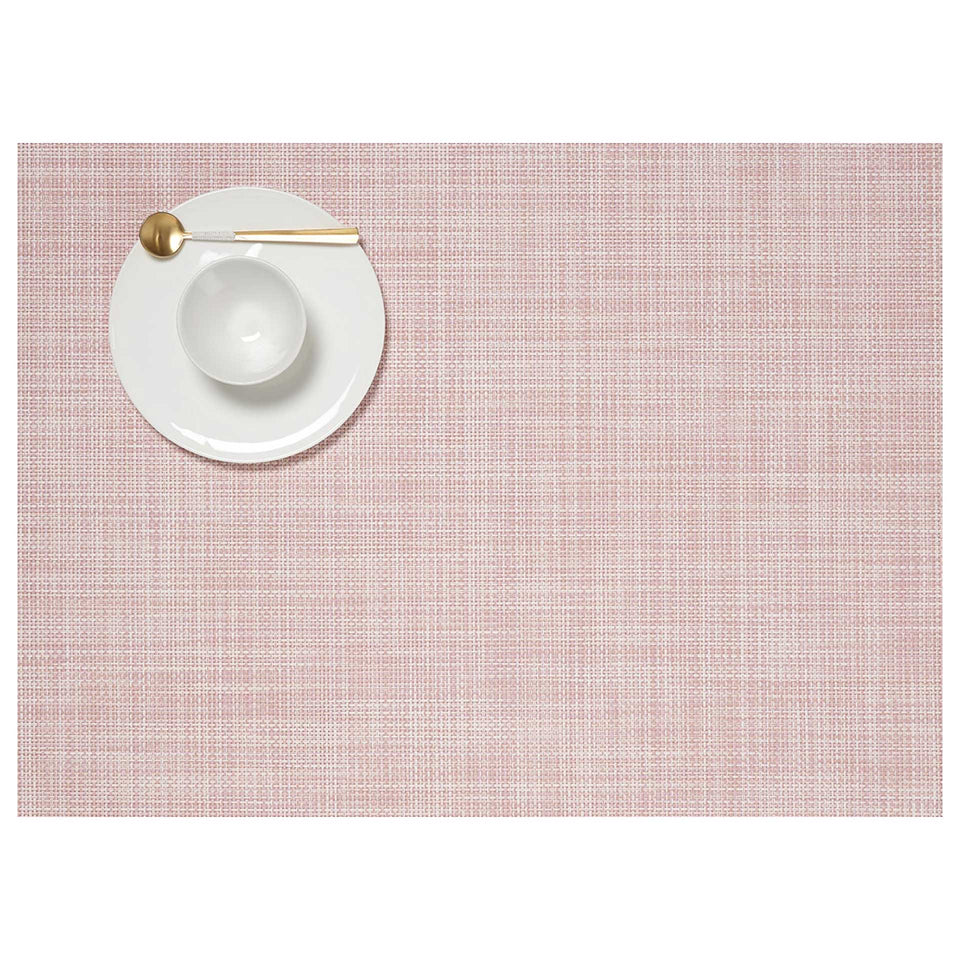 Blush Mini Basketweave Placemats & Runner by Chilewich