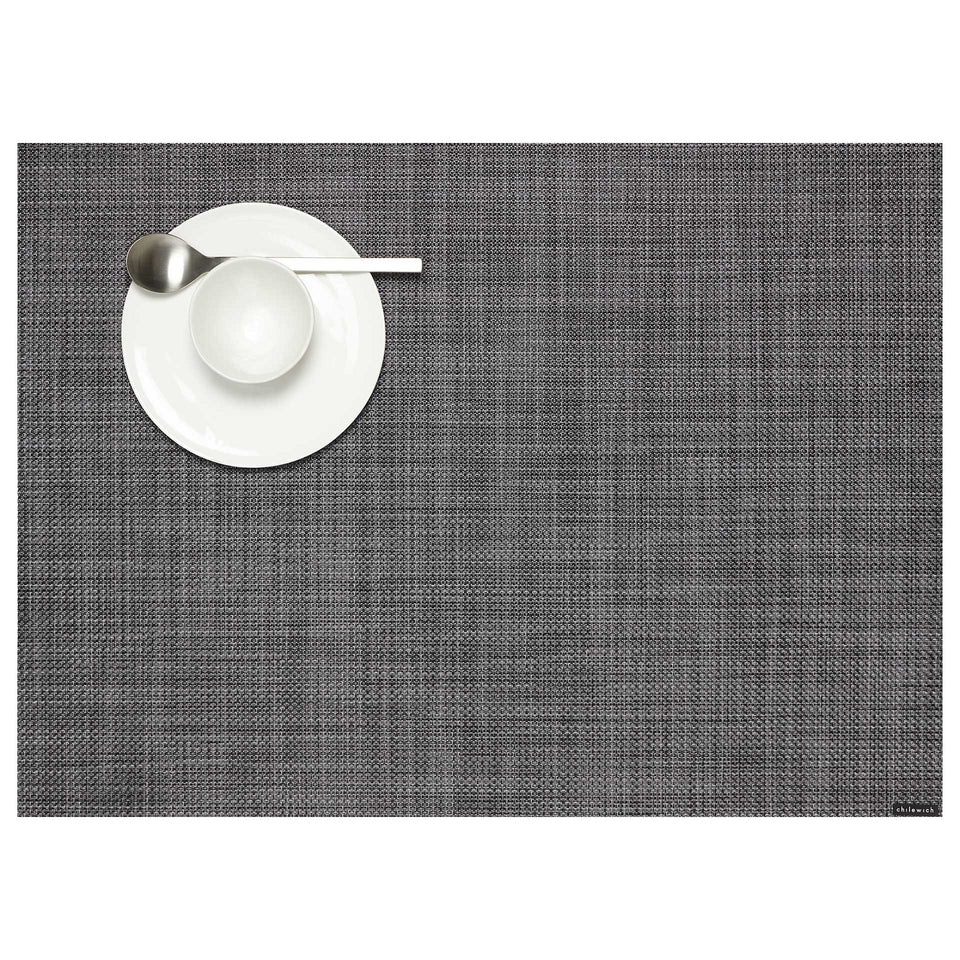Cool Grey Mini Basketweave Placemats & Runner by Chilewich