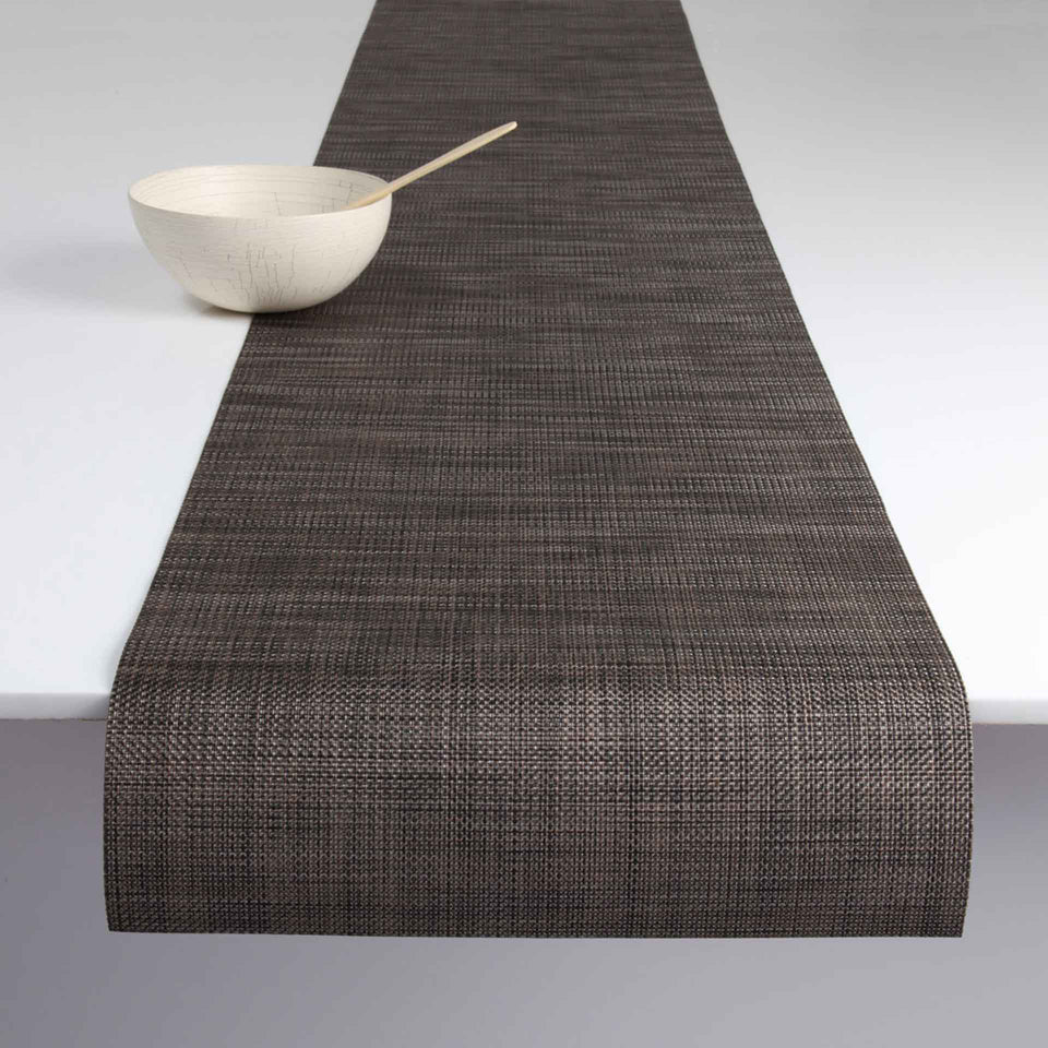 Dark Walnut Mini Basketweave Placemats & Runner by Chilewich