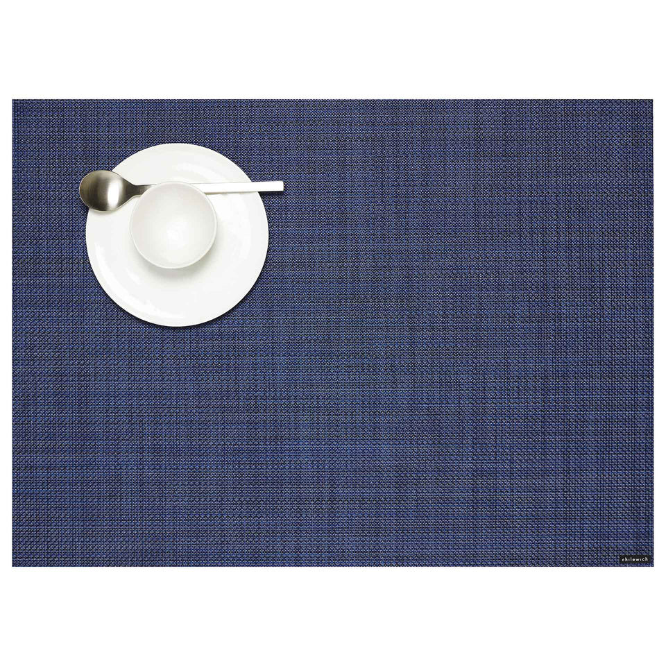 Indigo Mini Basketweave Placemats & Runner by Chilewich