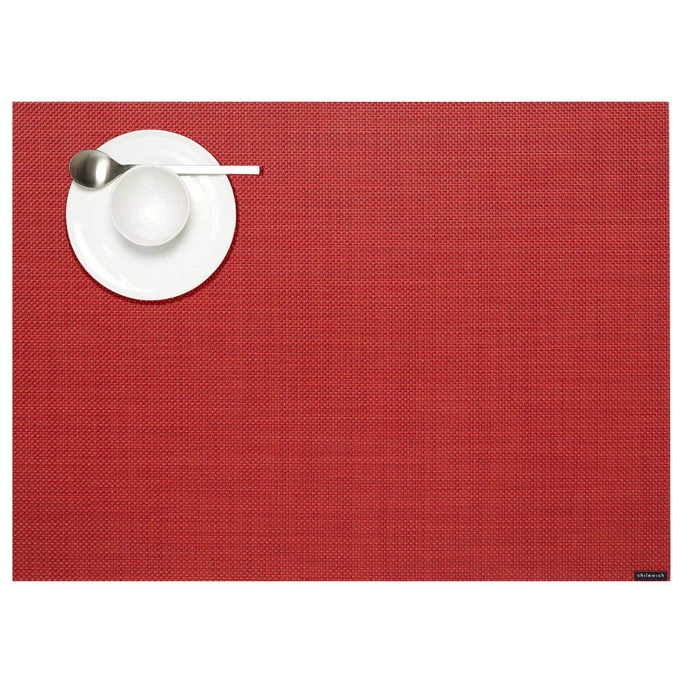 Pimento Mini Basketweave Placemats & Runner by Chilewich