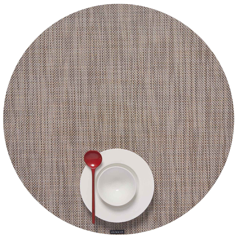 Soapstone Mini Basketweave Placemats & Runner by Chilewich