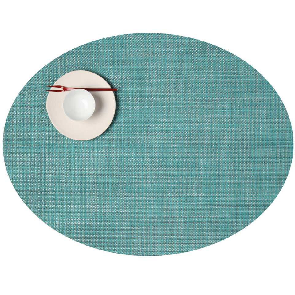 Turquoise Mini Basketweave Placemats & Runner by Chilewich