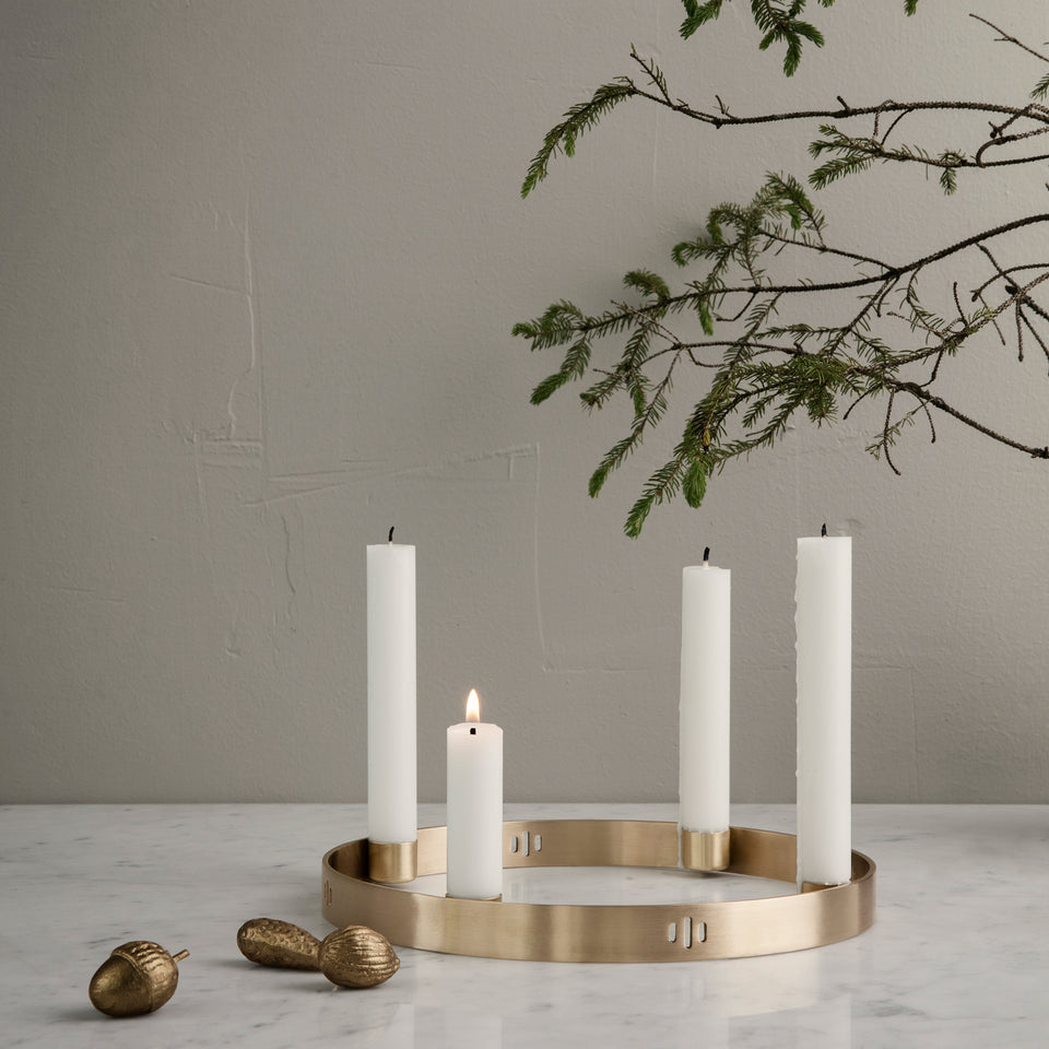 Circle Candleholder Brass by Ferm Living