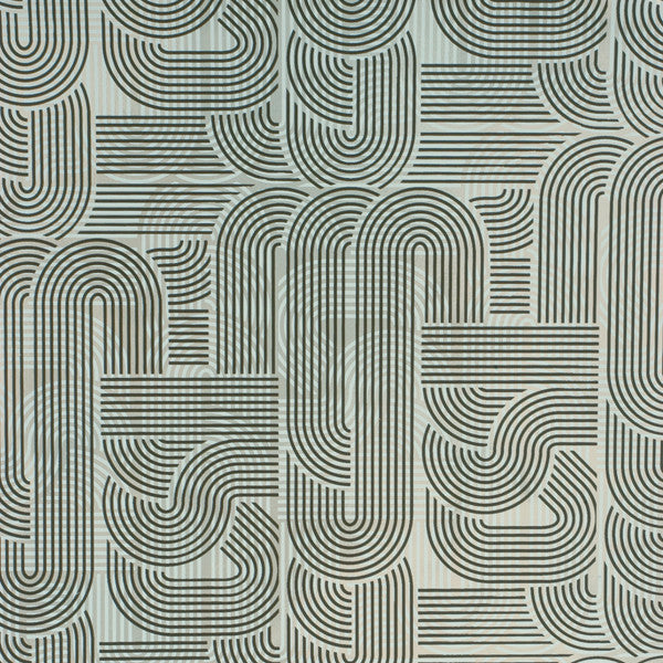 Circuit - Chocolate on Silver Mylar Wallpaper by Flavor Paper - Vertigo Home