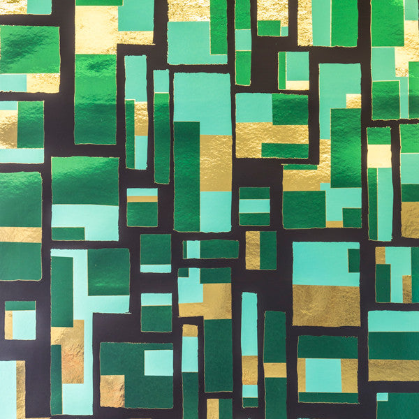 City of Light - Emerald City on Bright Gold Mylar Wallpaper by Flavor Paper - Vertigo Home