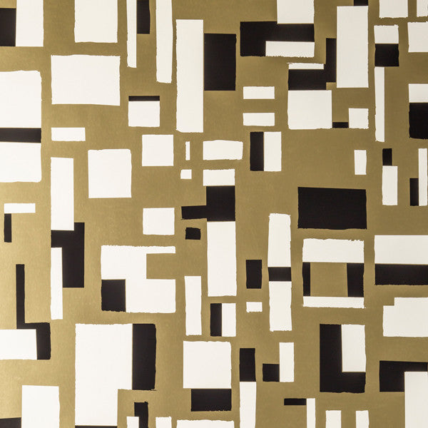 City of Light - Lynx on Matte Gold Mylar Wallpaper by Flavor Paper - Vertigo Home