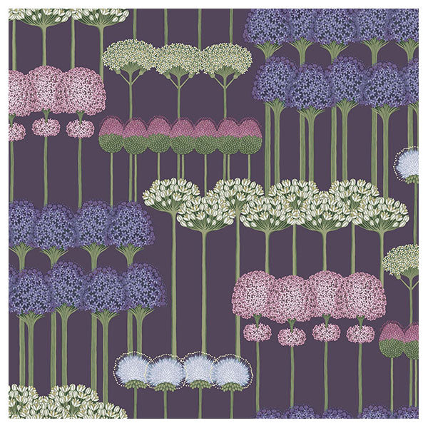 Cole & Son - Botanical Botanica -  Allium in Mulberry & Heather on Violet