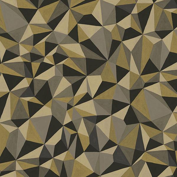 Cole & Son Wallpaper - Curio - Quartz in Gold & Silver