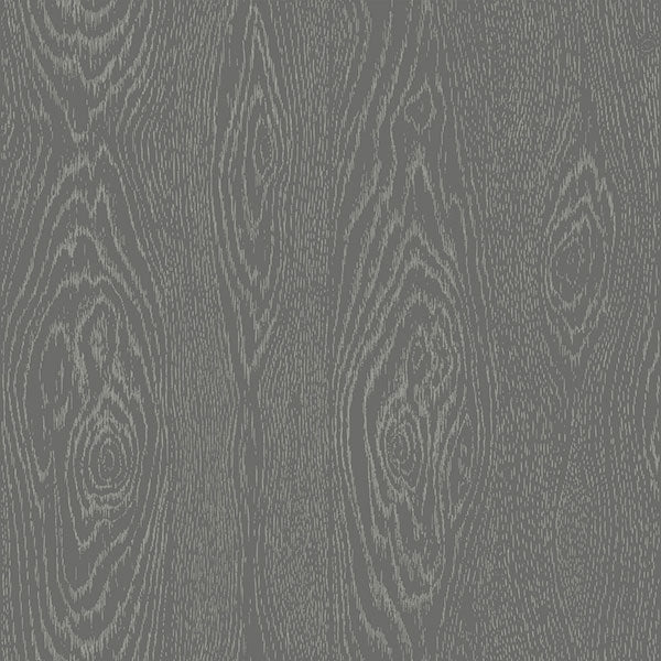 Cole & Son - Curio - Wood Grain in Black & Silver