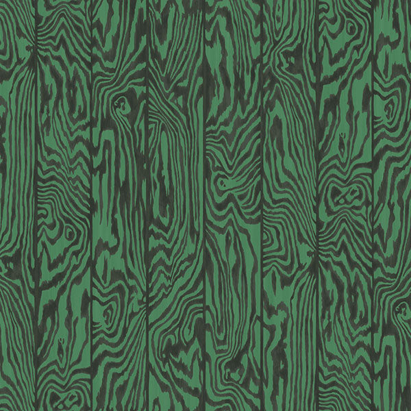 Cole & Son - Curio - Zebrawood in Emerald