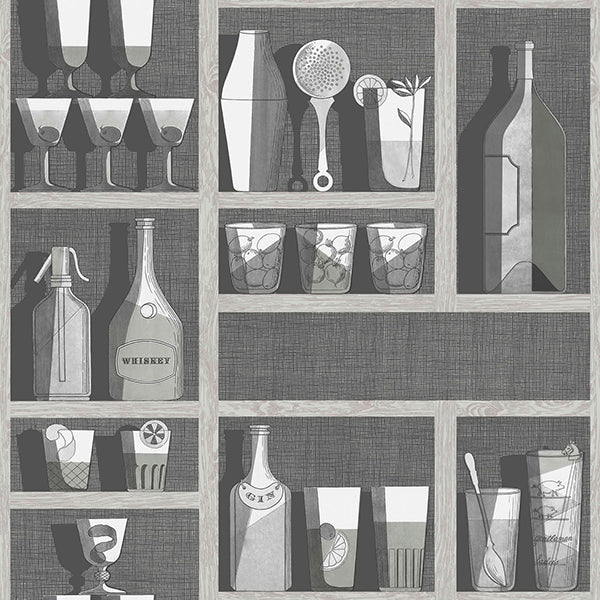 Cole & Son - Fornasetti Cocktails - Soot & Snow