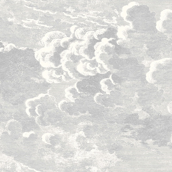 Cole & Son - Fornasetti Nuvolette Wallpaper - Soot & Snow