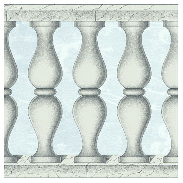 Cole & Son - Fornasetti II Balaustra Wallpaper Frieze - Pale Blue - Vertigo Home
