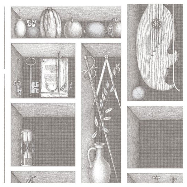 Cole & Son - Fornasetti II Nicchie Wallpaper - Black / White - Vertigo Home