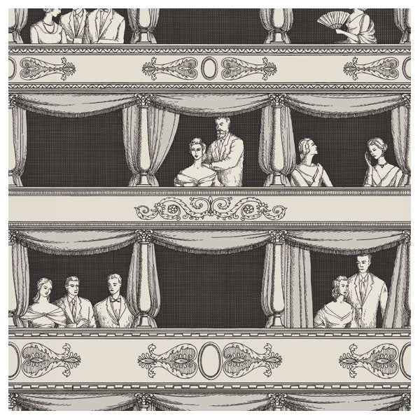 Cole & Son - Fornasetti II Teatro Wallpaper - Black / White - Vertigo Home