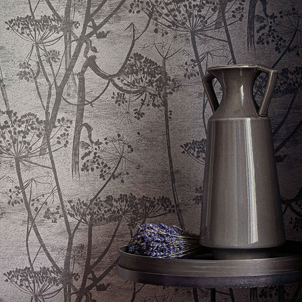 Cole & Son Wallpaper - Icons - Cow Parsley in Charcoal