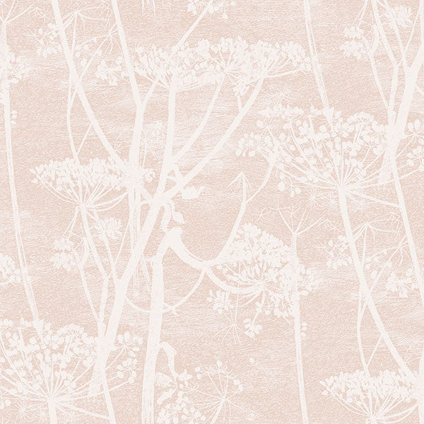 Cole & Son Wallpaper - Icons - Cow Parsley in Plaster Pink