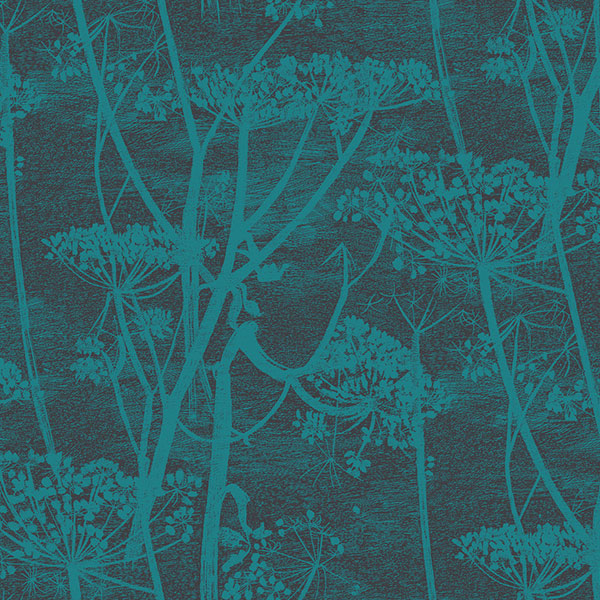 Cole & Son Wallpaper - Icons - Cow Parsley in Teal
