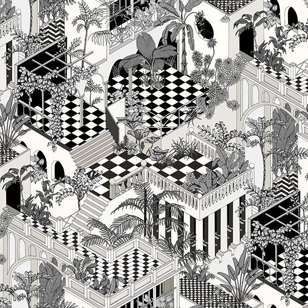 Cole & Son Wallpaper - Icons - Miami in Black & White