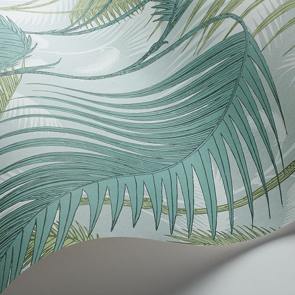 Cole & Son - Icons - Palm Jungle in Print Room Blue & Mint
