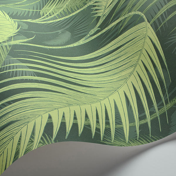 Cole & Son - Icons - Palm Jungle in Leaf Green