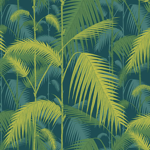 Cole & Son - Icons - Palm Jungle in Petrol & Lime