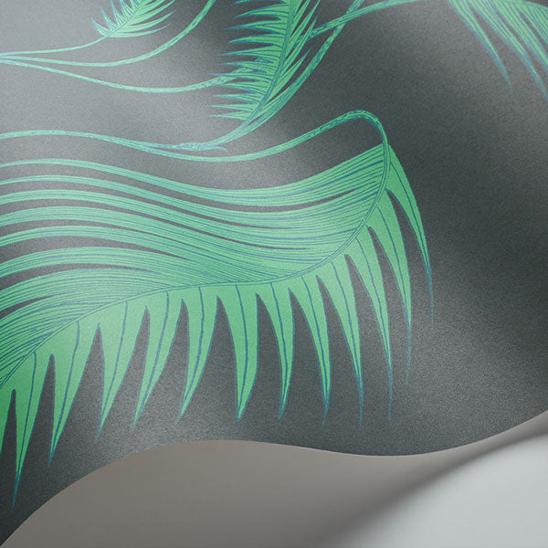 Cole & Son Wallpaper - Icons - Palm Leaves in Viridian