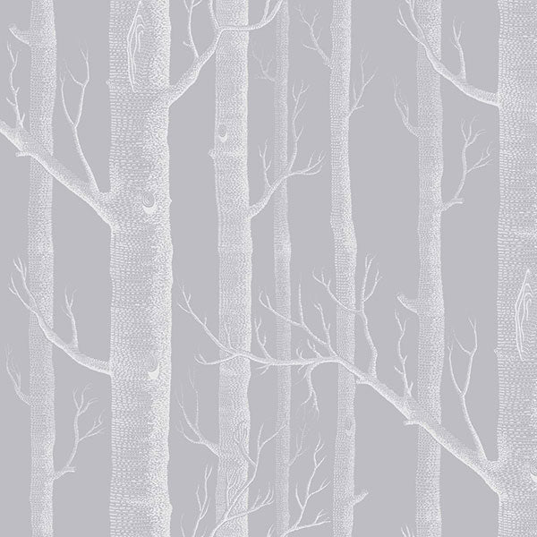 Cole & Son Wallpaper - Icons - Woods in Grey & White