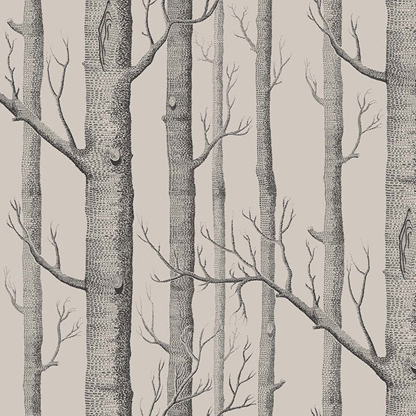 Cole & Son Wallpaper - Icons - Woods in Linen & Charcoal
